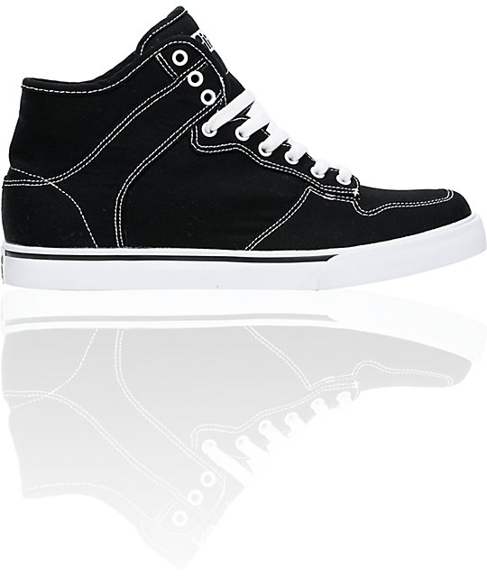 ALIFE Everybody High Black Canvas Shoes