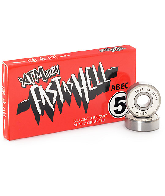 ATM Abec 5 Fast As Hell Skateboard Bearings