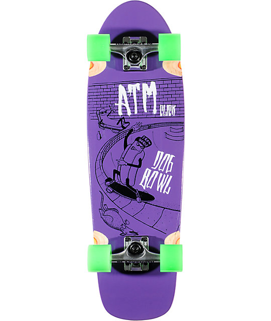 "ATM Dog Bowl 29""  Purple Complete Cruiser Skateboard"