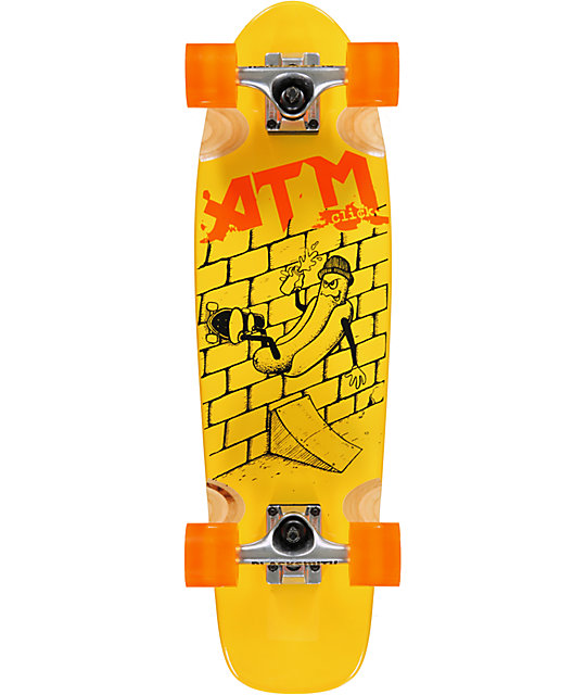 "ATM Hot Dog Assorted Color 27""  Complete Cruiser Skateboard"