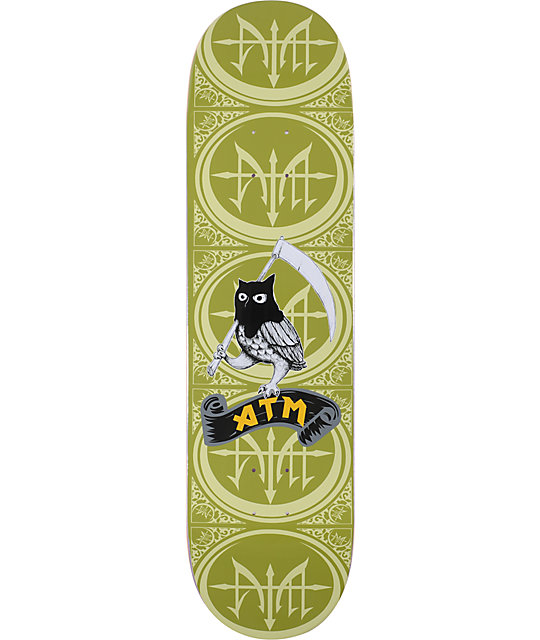 "ATM Owl 8.25""  Skateboard Deck"