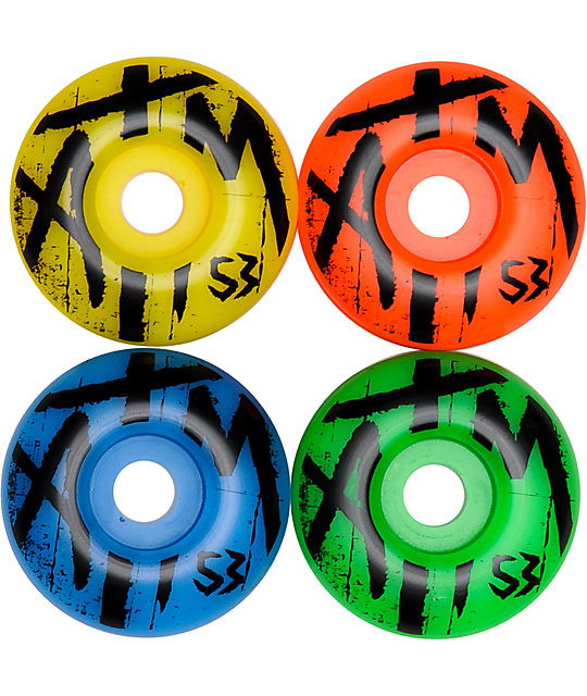 ATM Skitzo Mismatch 53mm Skateboard Wheels