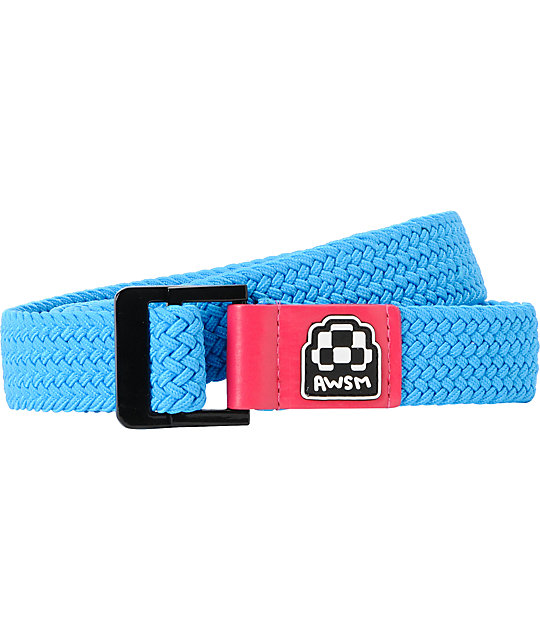 AWSM Bright Blue Nicole Web Belt
