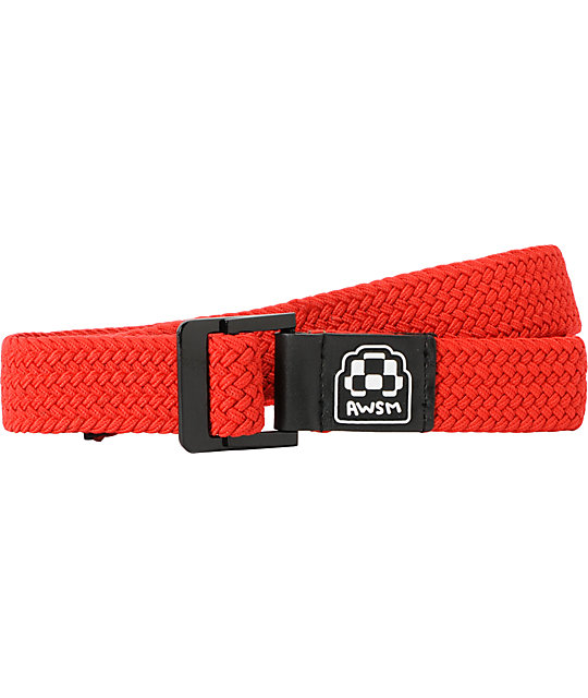 AWSM Red Nicole Web Belt