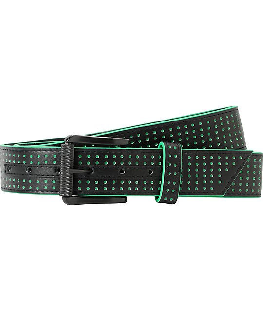 AWSM Techno Black & Green Belt