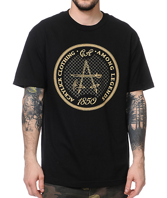 Acrylick Among Legends Black T-Shirt
