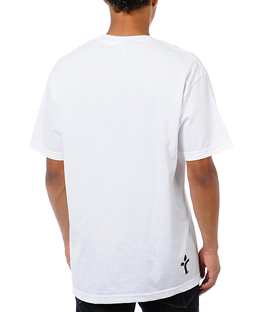 Acrylick Beats & Life White T-Shirt