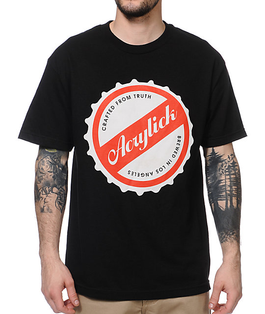 Acrylick Brewed Black T-Shirt