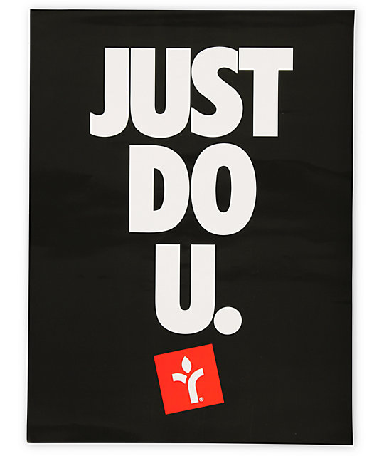 Acrylick Just Do U Poster