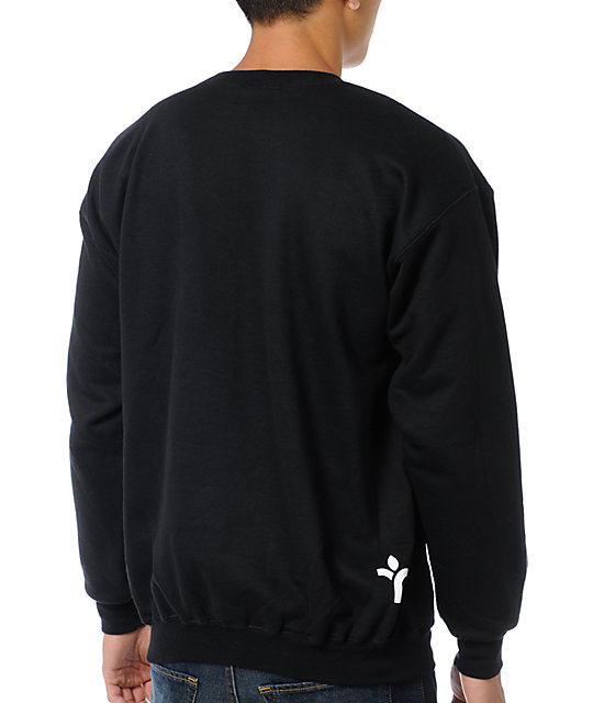 Acrylick Just Do You Black Crew Neck Sweatshirt