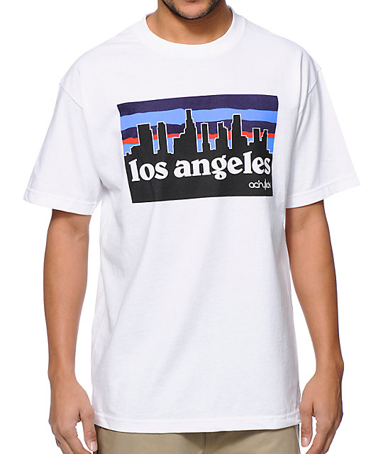 Acrylick LA Skyline White T-Shirt