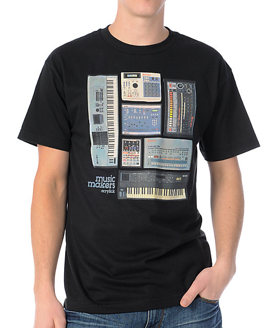 Acrylick Music Makers Black T-Shirt