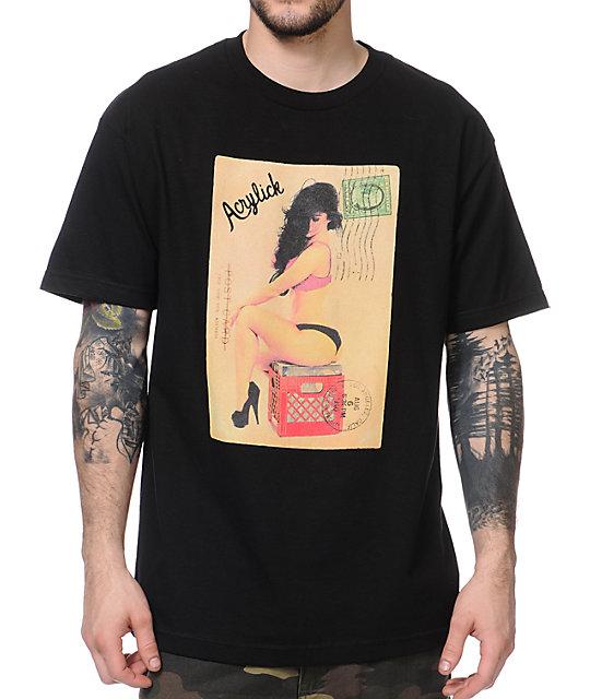 Acrylick Pinup Black T-Shirt