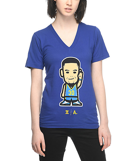 Adapt Warriors Curry Emoji camiseta azul