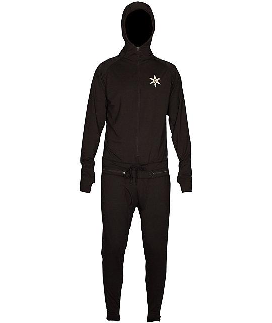 Airblaster Black Ninja Suit Mens Long Underwear