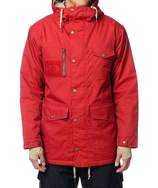 Airblaster Grumpy Crimson Red 10K Snowboard Jacket