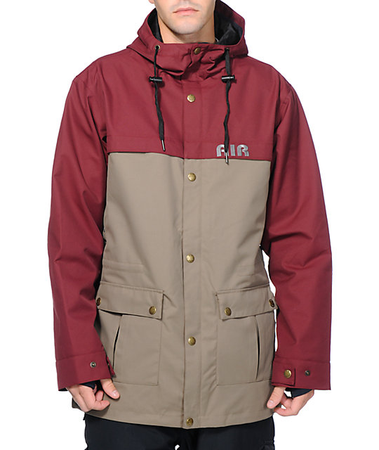 Airblaster OJ Burgundy & Puddle 8K Snowboard Jacket