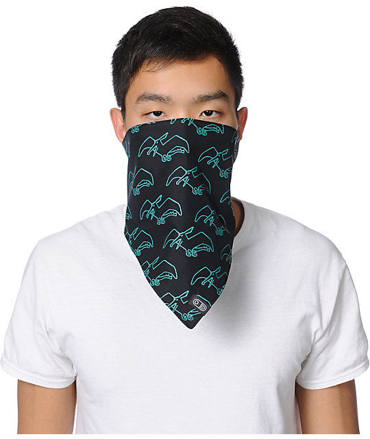 Airblaster Terry Black & Teal Face Mask Bandana