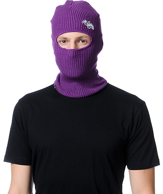 Airblaster Terryclava Purple Face Mask