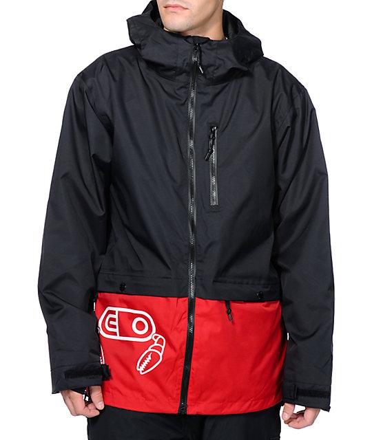 Airblaster x Crab Grab Blaster Black 10K Snowboard Jacket