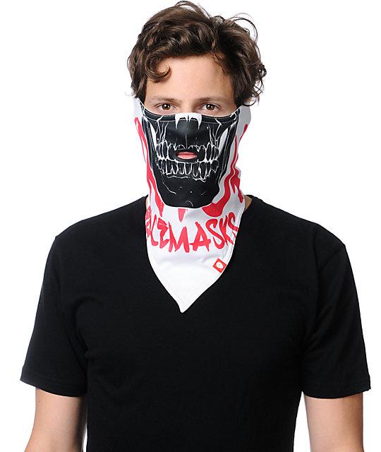 Airhole Skull White Face Mask Bandana