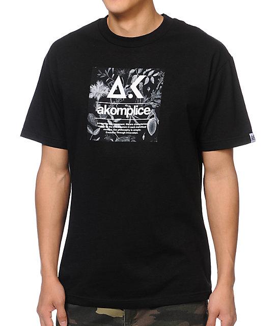 Akomplice AK Floral Black T-Shirt