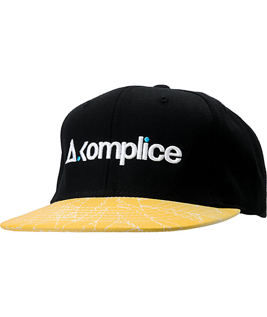 Akomplice Hyperlight Black & Yellow Snapback Hat