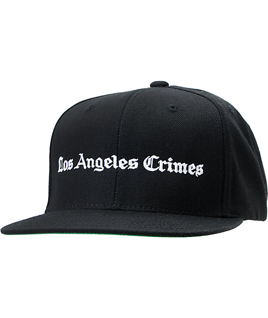 Akomplice LA Crimes Black Snapback Hat