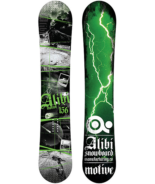 Alibi Motive 157cm Wide Mens Snowboard