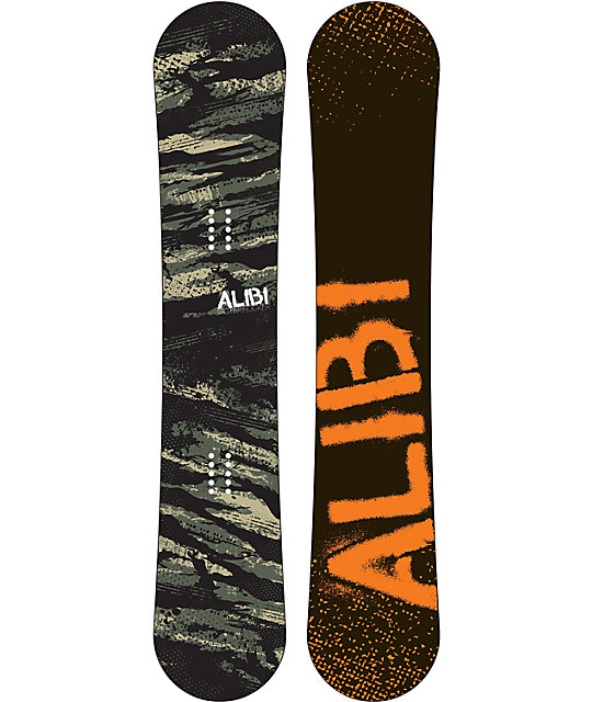 Alibi Sicter 161cm Mid-Wide Reverse Camber Snowboard