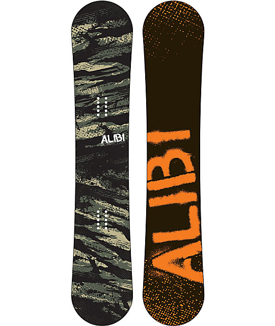 Alibi Sicter 164cm Wide Reverse Camber Snowboard