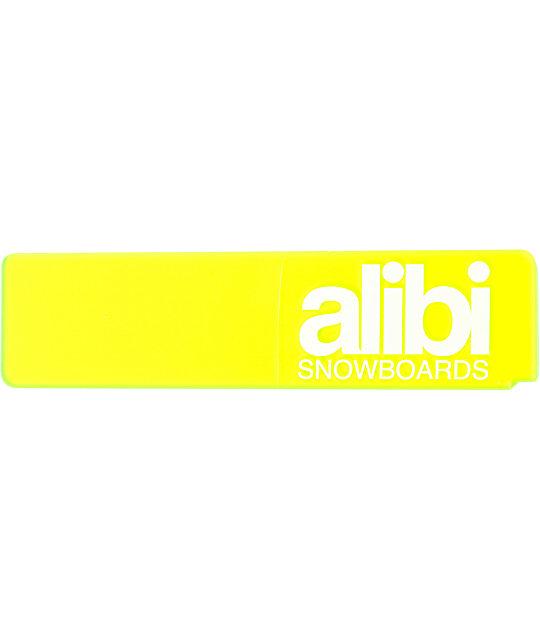 Alibi Snowboards 9 Clear Green Scraper