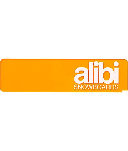 Alibi Snowboards 9 Clear Orange Scraper