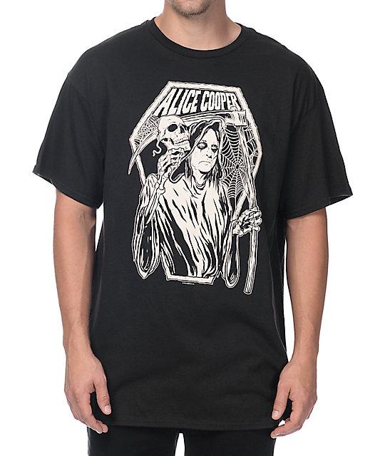 alice cooper reaper black tshirt zumiez