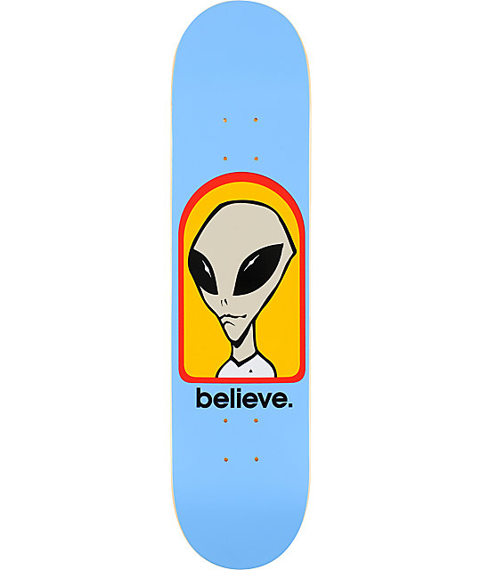 "Alien Workshop Believe 7.62""  Skateboard Deck"