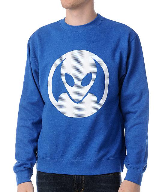 Alien Workshop Dot Moire Blue Crew Neck Sweatshirt