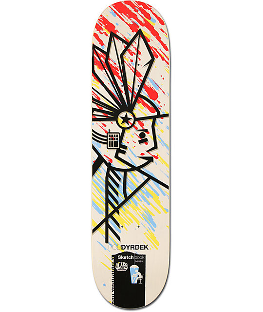 "Alien Workshop Dyrdek Sketchbook 7.87""  Skateboard Deck"