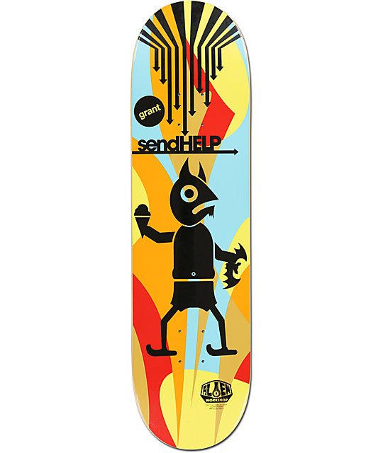 "Alien Workshop Grant Taylor Send Help 8.5""  Skateboard Deck"