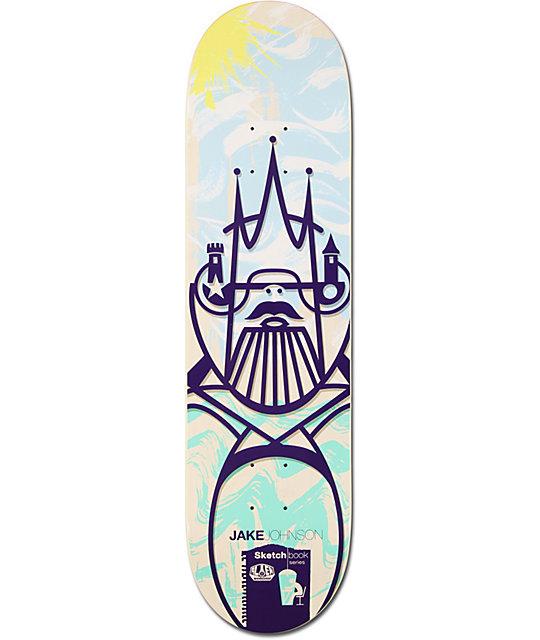 "Alien Workshop Johnson Sketchbook 8.12""  Skateboard Deck"