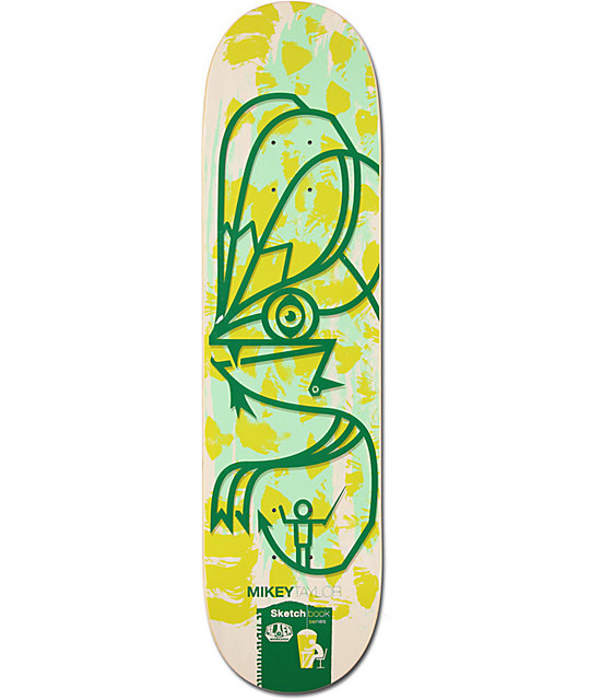 "Alien Workshop Mikey Taylor Sketchbook 8.0""  Skateboard Deck"