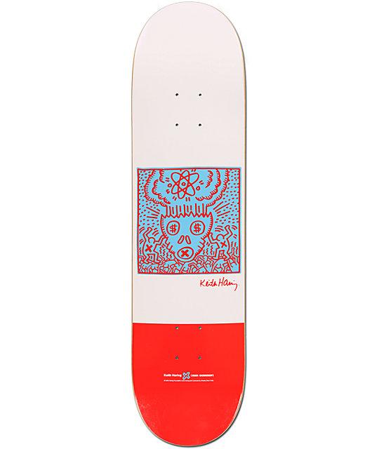 "Alien Workshop x Haring Atomic Skull 8.0""  Skateboard Deck"