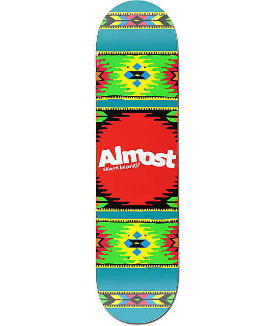 "Almost Aztek Ocean 8.0""  Skateboard Deck"