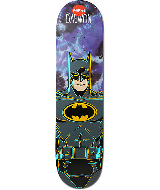 "Almost Daewon Batman Tie Dye 7.75"" Skateboard Deck at ..."