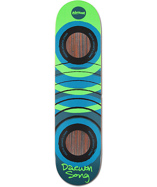 "Almost Daewon Fluorescent 7.75"" Impact Support Skateboard ..."