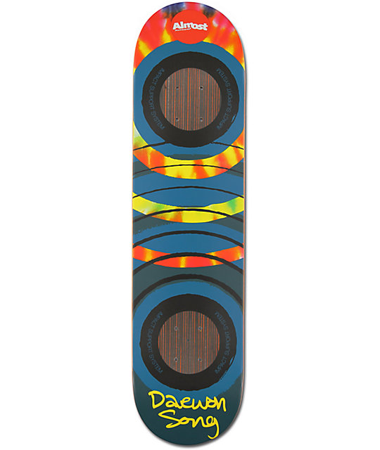 """Almost Daewon Song Tie Dye Impact Support 7.75""""  Skateboard Deck"""