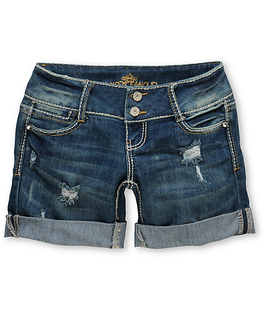 Almost Famous Amy Denim Bermuda Shorts