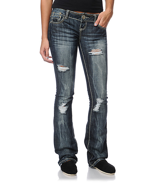 Almost Famous Ann Dark Indigo Bootcut Jeans at Zumiez : PDP