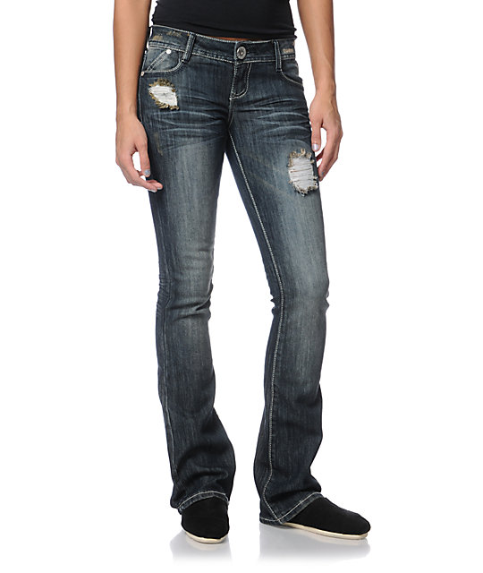 Almost Famous Ashton Dark Blue Bootcut Jeans