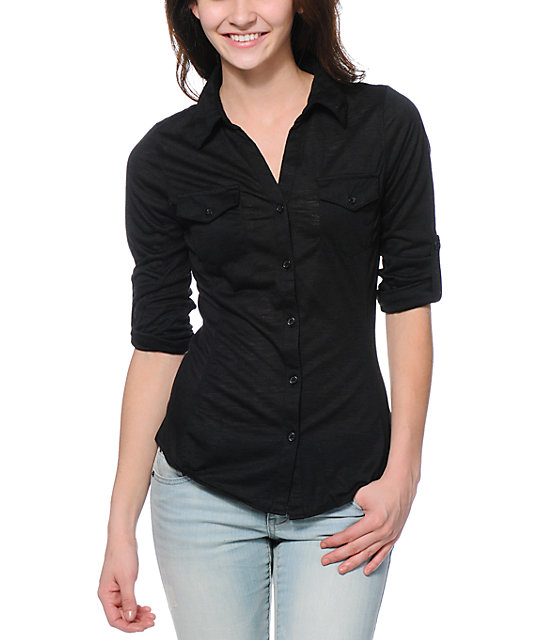 Almost Famous Black Button Up Shirt | Zumiez