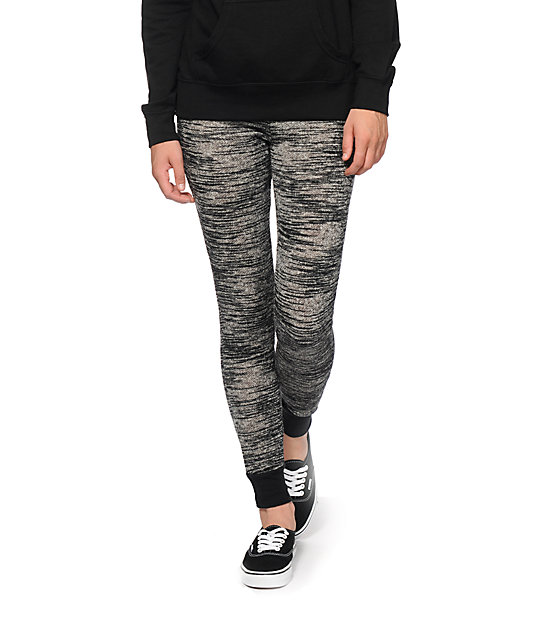 Almost Famous Black Space Dye Jogger Pants at Zumiez : PDP